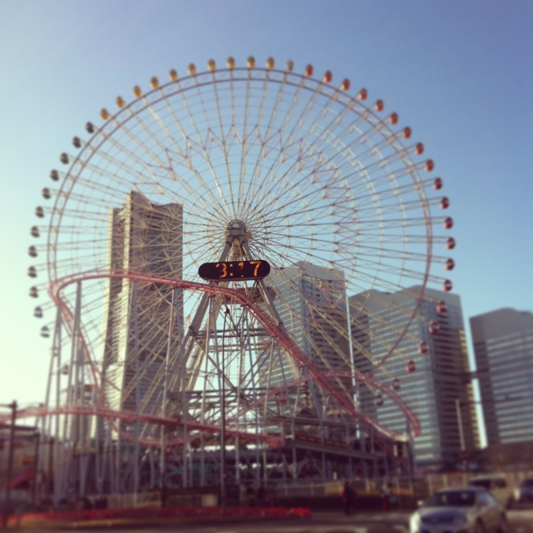 What's a city without a ferris wheel? Minato Mirai